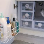 Best alternative additional plastic storage boxes and attached  single shelf in the back of cabinet door