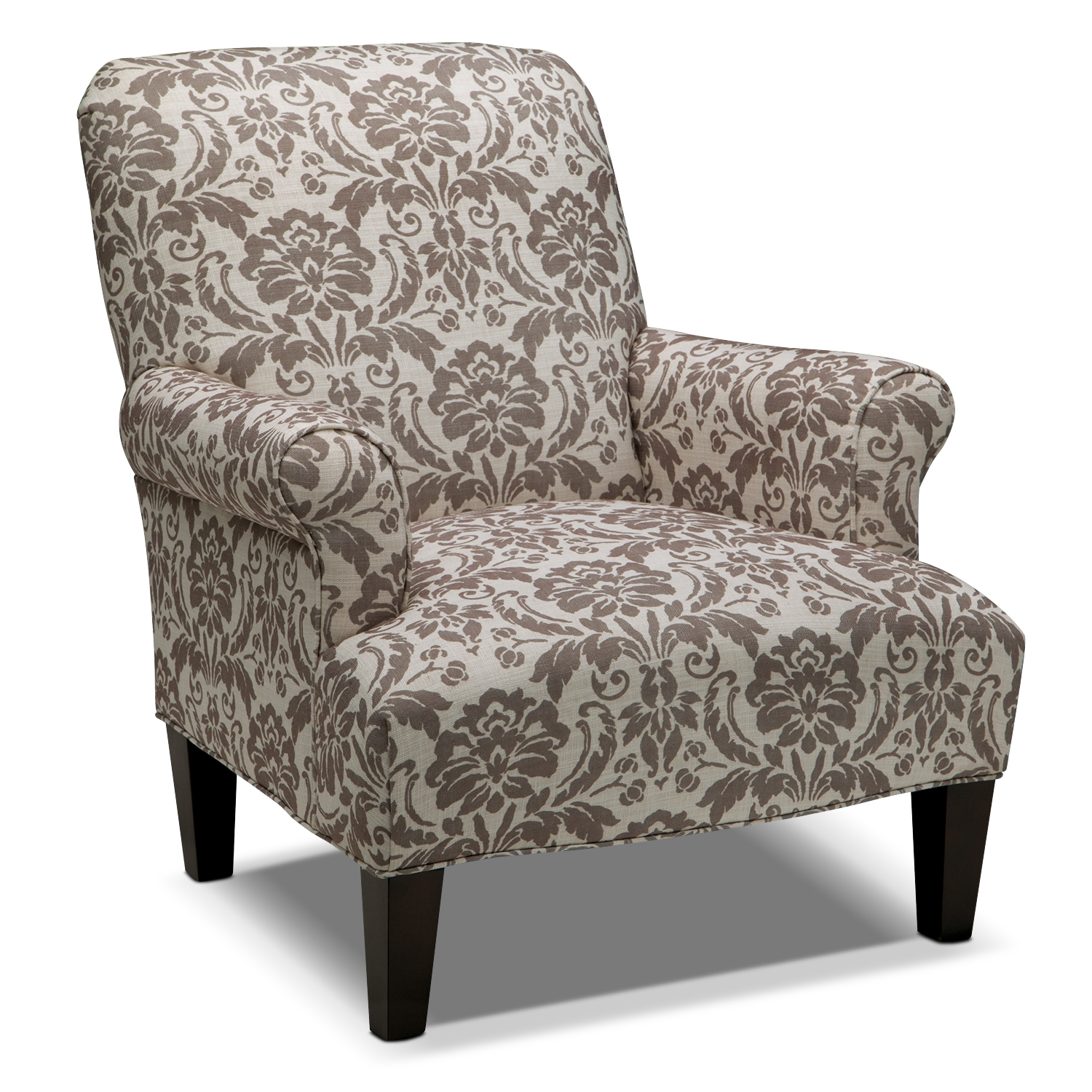 Big Damask Accent Chair With Cream Color - Damask Accent Chair Ideas  HomesFeed - Damask Accent - Damask Accent Chair Heather Bates Design