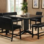 Black Kitchen Table Set Square Table And Fur Rug