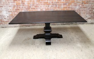 Black Wood Of Pedestals For Square Table