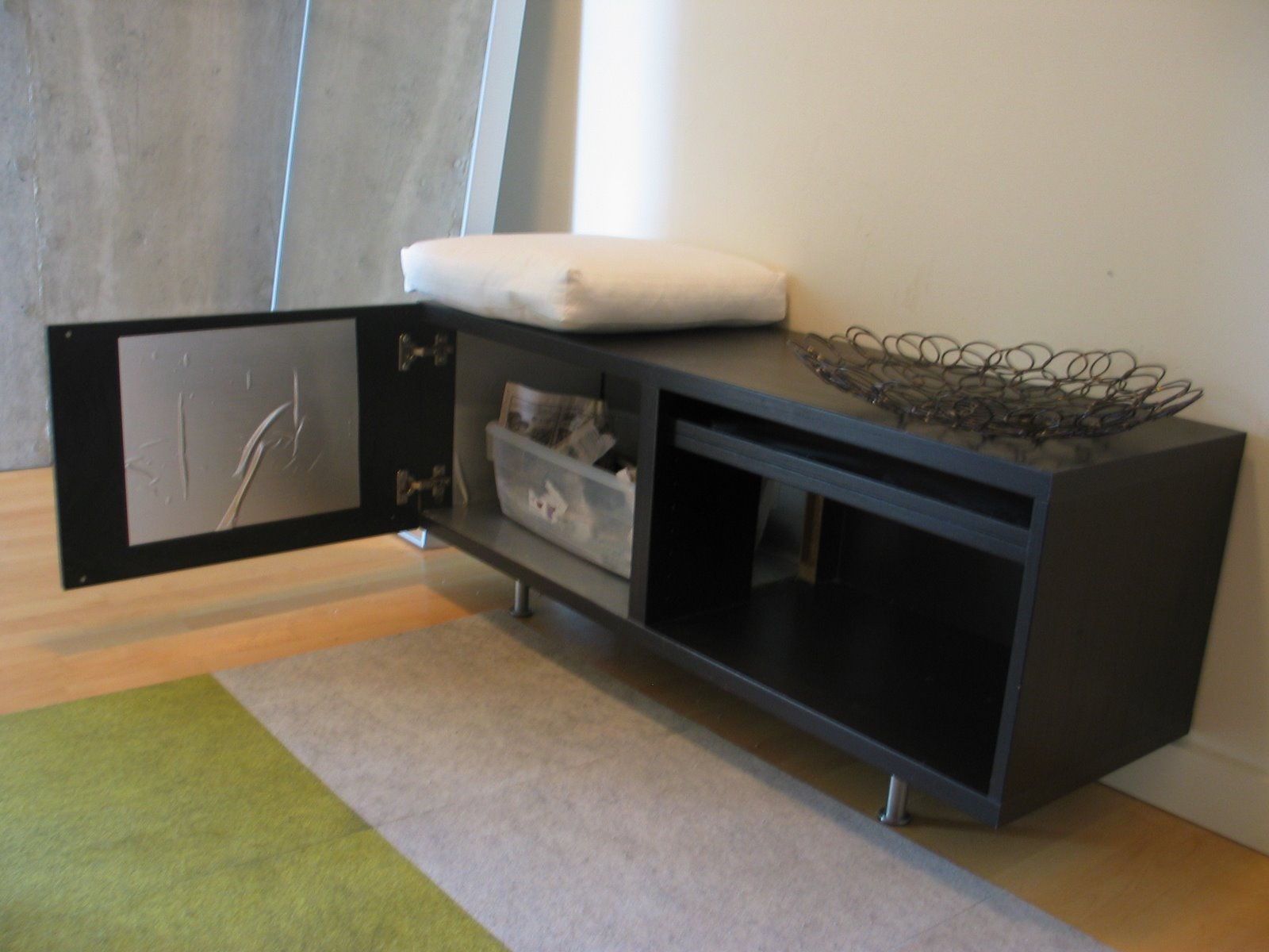 Black Wooden Cat Box With Carpet On Hardwood Floor With Ikea Litter Box  Cabinet