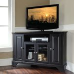 Black Wooden TV Stand Electric WIth Drawers And Shelfs