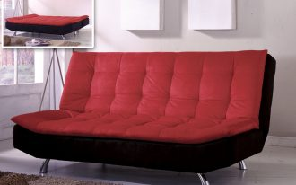 Black and red  folding futon bed design from IKEA