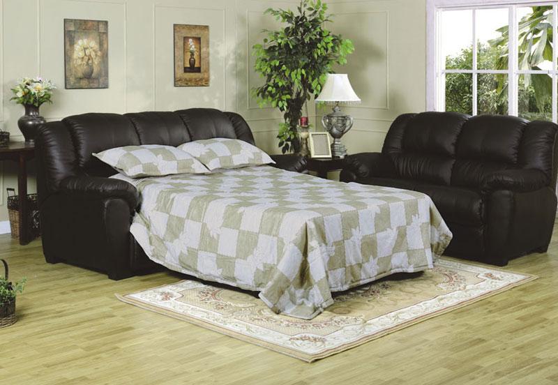 Black Sofa Sleeper Mainstays 54 Loveseat Sleeper Black