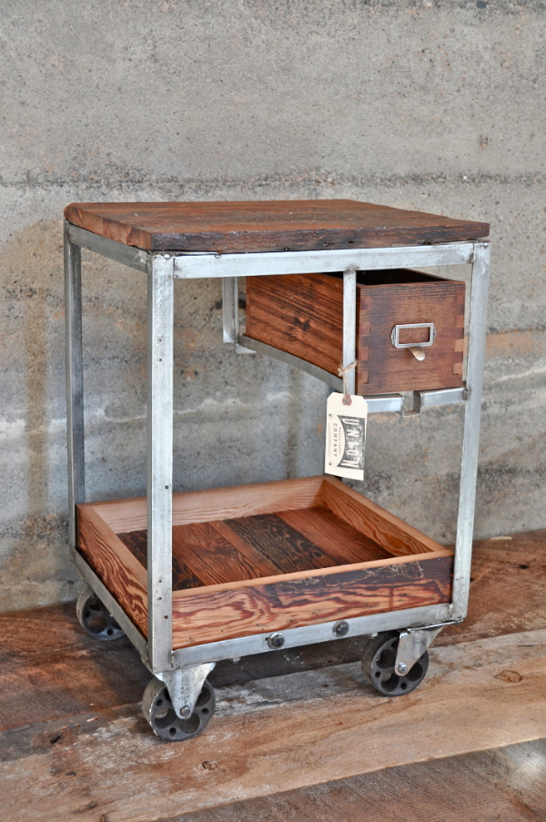 Wood Storage Cart On Wheels