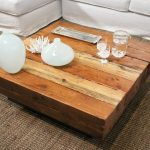 Block butcher coffee table in large size
