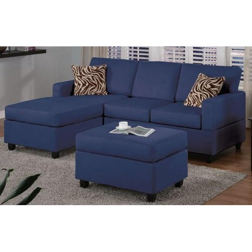 Navy blue sectional sofa design options homesfeed for Blue sectional sofa with chaise