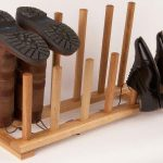 Boot storage idea made of wood