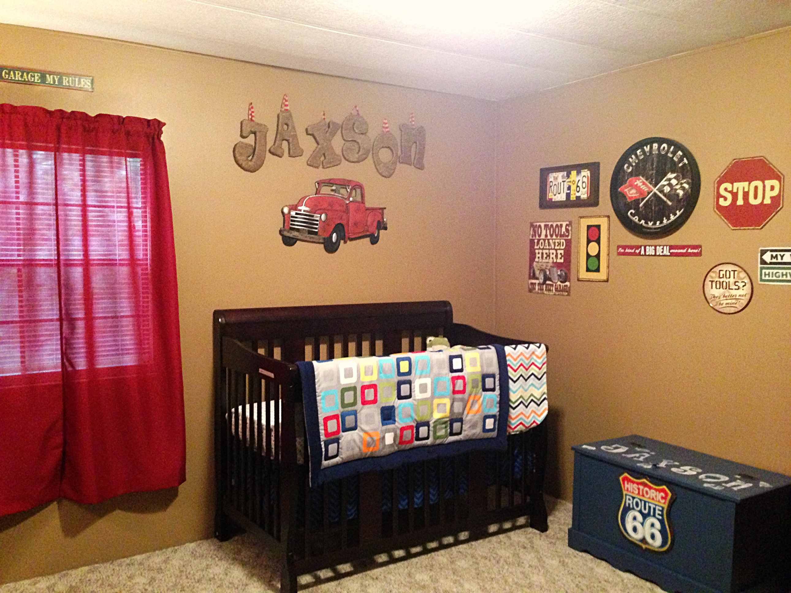 Garage Themed Baby Room