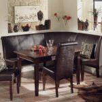 Breakfast Nook Dining Room Sets Corner Bench Chairs Table Stone Wall And Tile