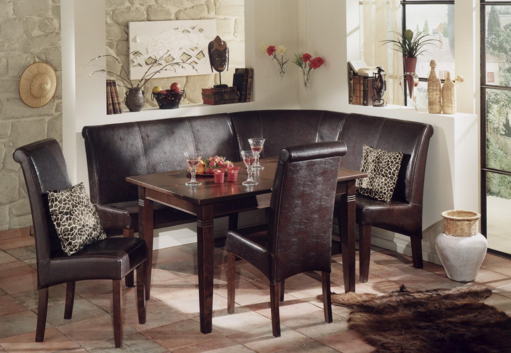 Dining room nook sets homesfeed - Dining room table with corner bench ...