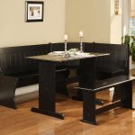 Breakfast Nook Table And Chairs Dining Room Dark Set Color In Hardwood Floor Room