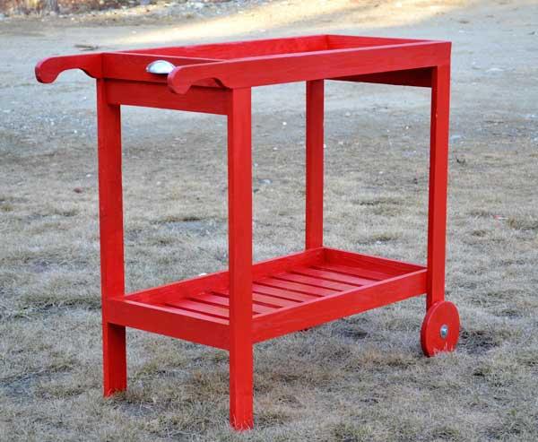 Wooden bar cart designs homesfeed for Woodworking cart