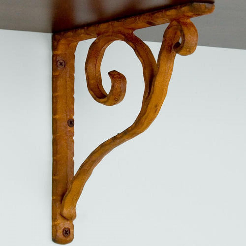 brown and decorative metal shelf bracket - Decorative Metal Shelf Brackets
