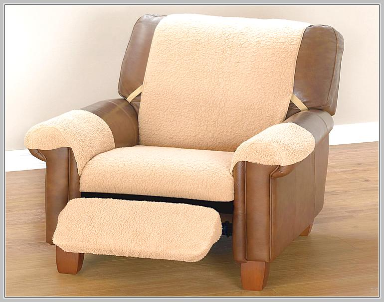 Leather Recliner Slipcover Abbyson Amden Hand Rubbed Top