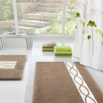 Brown Wool Rug For Bathroom In Large Size