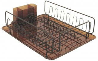 Brushed Bronze Dish Rack For Drying