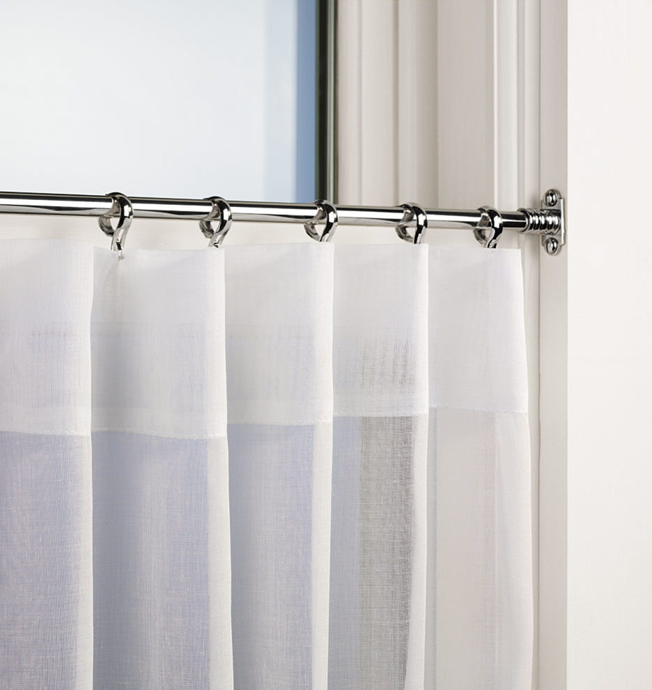 Cafe Curtain Rods Homesfeed