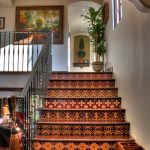 Calm Spanish Style On Stairs With Awesome Pattern