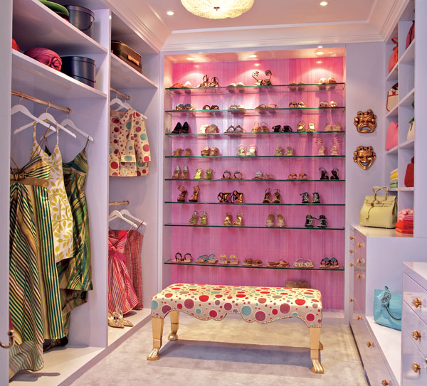 Ceiling And Recessed Light Fixtures For Highlighting Clothes Closets And  Footwear Rack