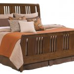 Cherry wood sleigh bed in king size