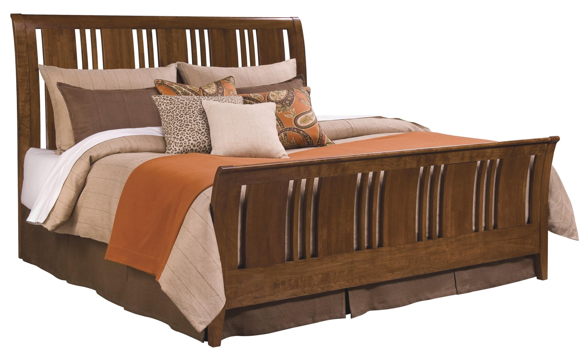 Feel Ultimate Comfort with Cherry Wood Sleigh Bed Series ...