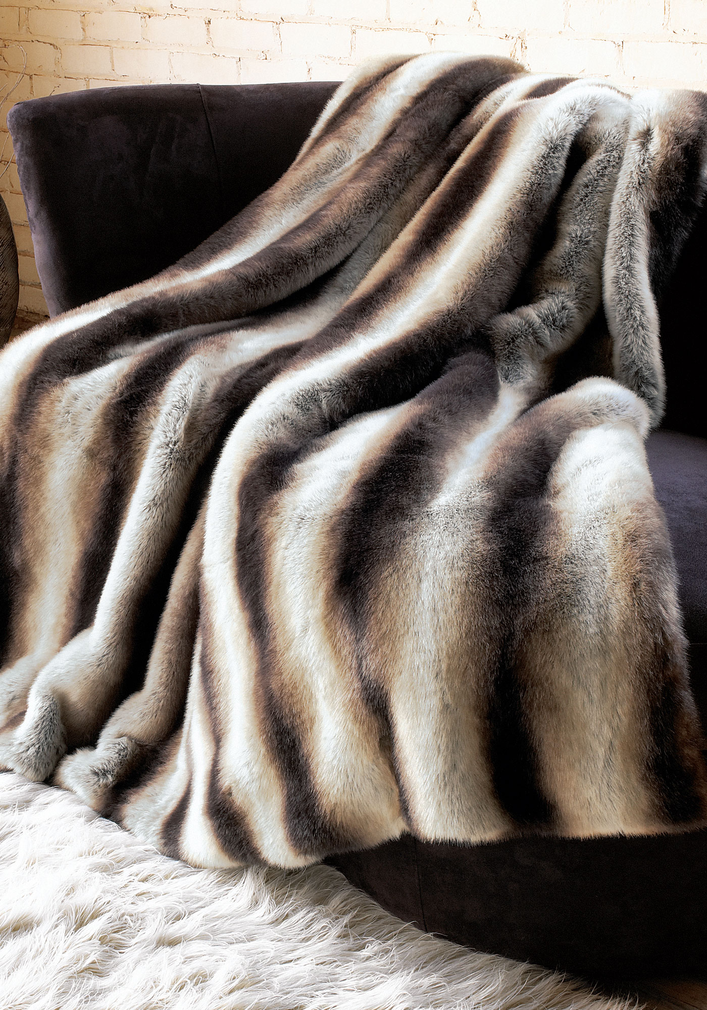 Large Faux Fur Throws For Sofas Faux Fur Throw Pottery
