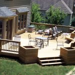 Classic Home Deck Design For Home Exterior With Chairs And Table