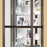 Classic Wooden Mounted Cabinet WIth Glass Accessories Inside
