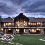 Contemporary Mountain Home Design With Two Floors And Stone Wall