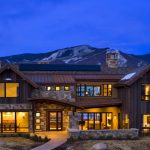 Contemporary Wooden Mountain Home Design With Big Windows