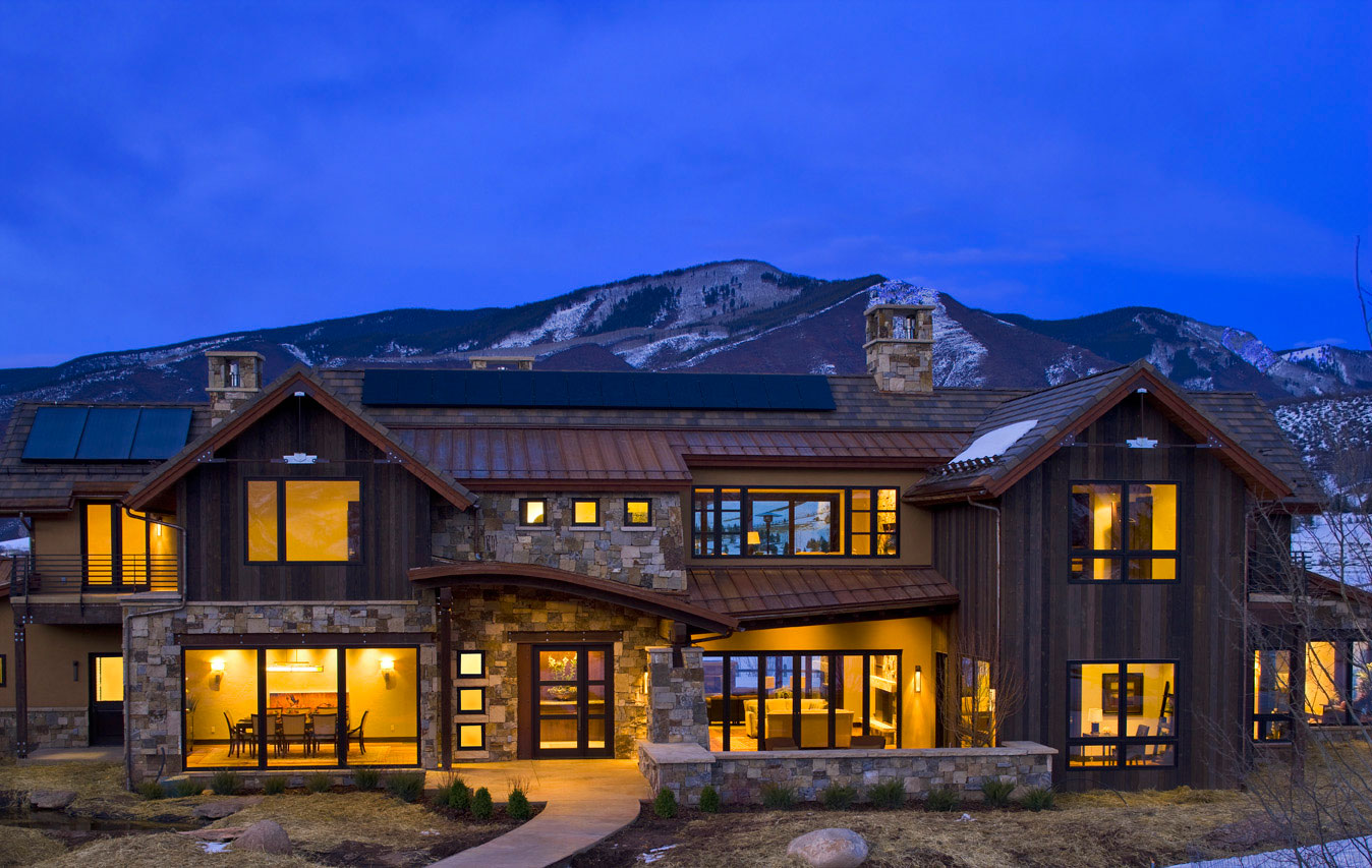 Mountain home ideas homesfeed for Modern mountain house plans