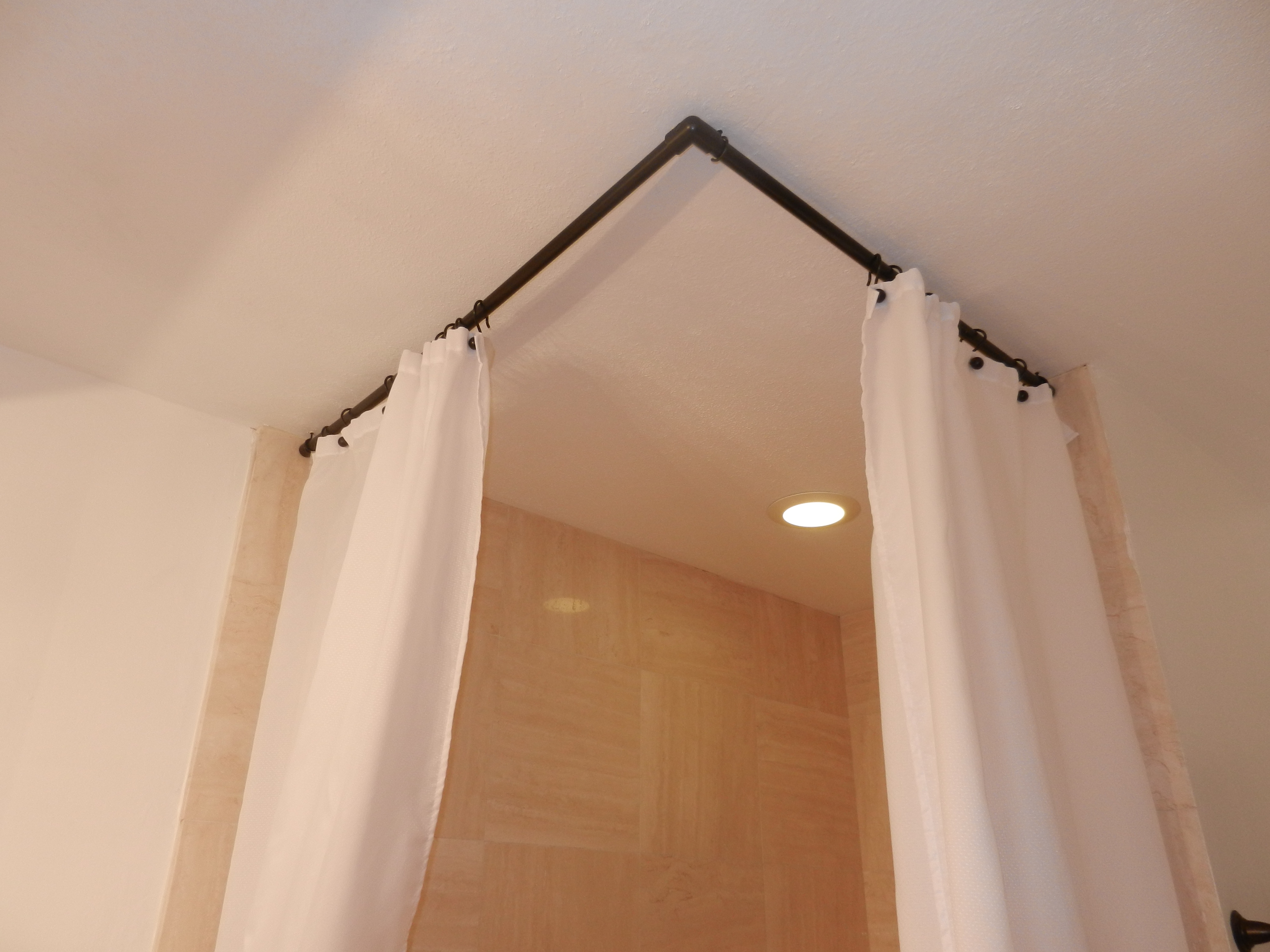Cool Ceiling Mount Curtain Rod With White