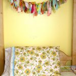 Cool Flower Pillow Case On Simple Bed With Wall Yellow And Its Accessories