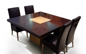 Cool High Quality Of Dining Room Wooden Square Table With 4 Chairs