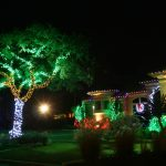 Cool Outdoor Christmas Decoration On House And Trees