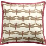 Cool and attractive accent pillow with cute dragon fly images and pink frame