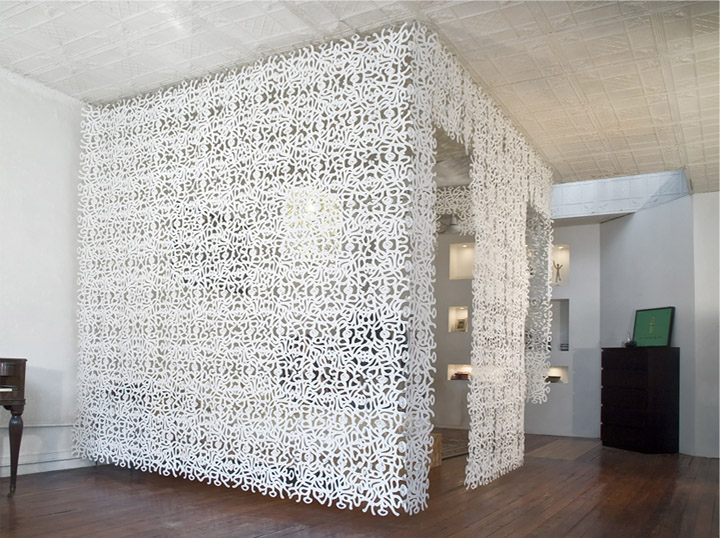 Cool White Portable Room Separator