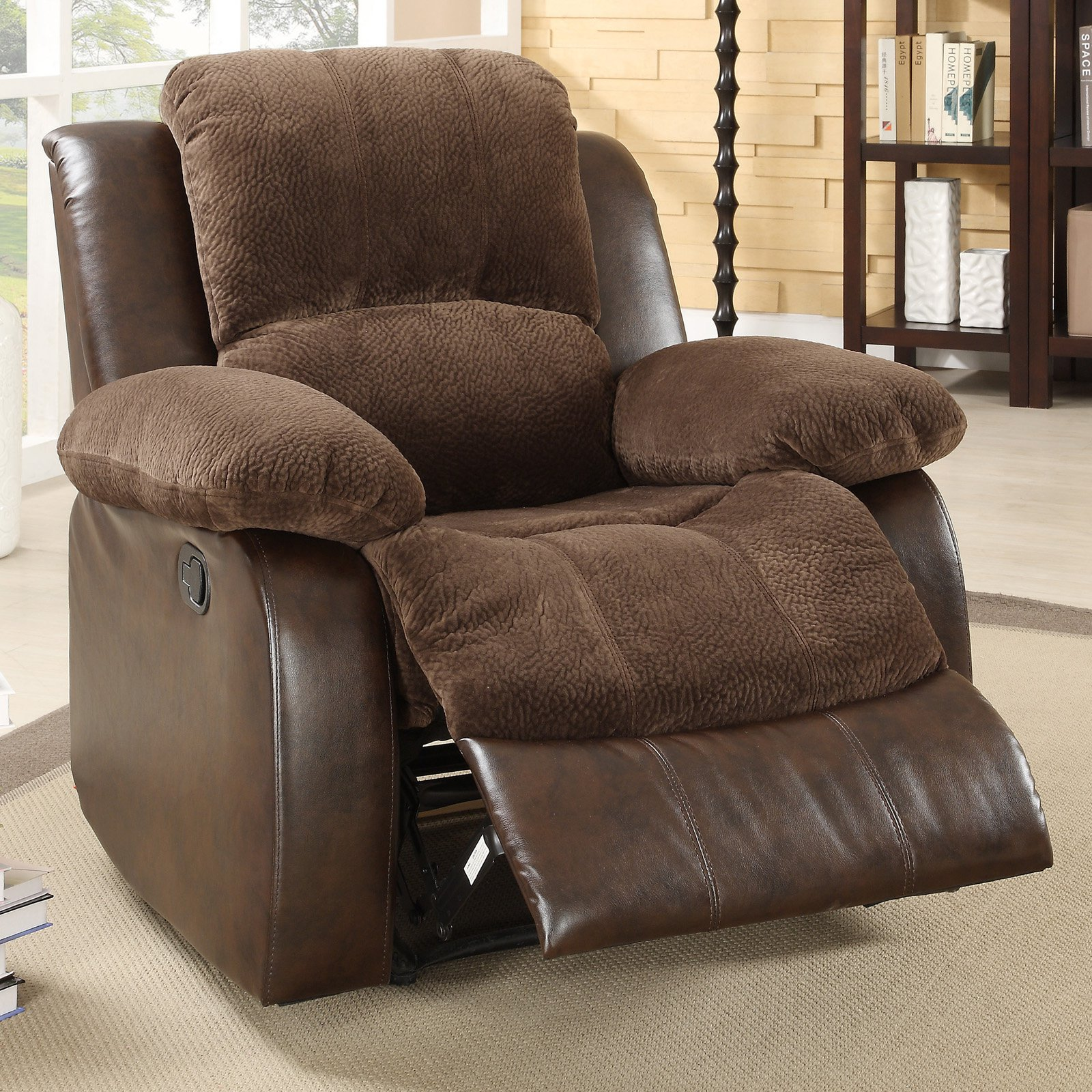 Cozy giant recliner with footboard and thic wool slip cover & Oversized Recliner Chair Product Selections | HomesFeed islam-shia.org