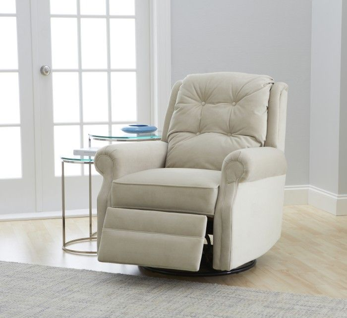 Cozy white swivel recliner idea with cushion round glass side table with metal base & Modern Swivel Recliner Options | HomesFeed islam-shia.org