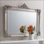 Crafted nickel frame with square antique mirror