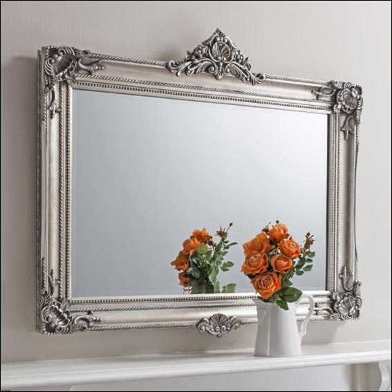 Antique looking mirrors add a little classic touch to for Large silver decorative mirrors
