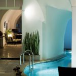 Custome Indoor Swimming Pool With Unique Architecture Of Ceiling