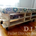DIY Bench With Racks For Books And Mattress