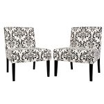 Damask Armless Accent Chair
