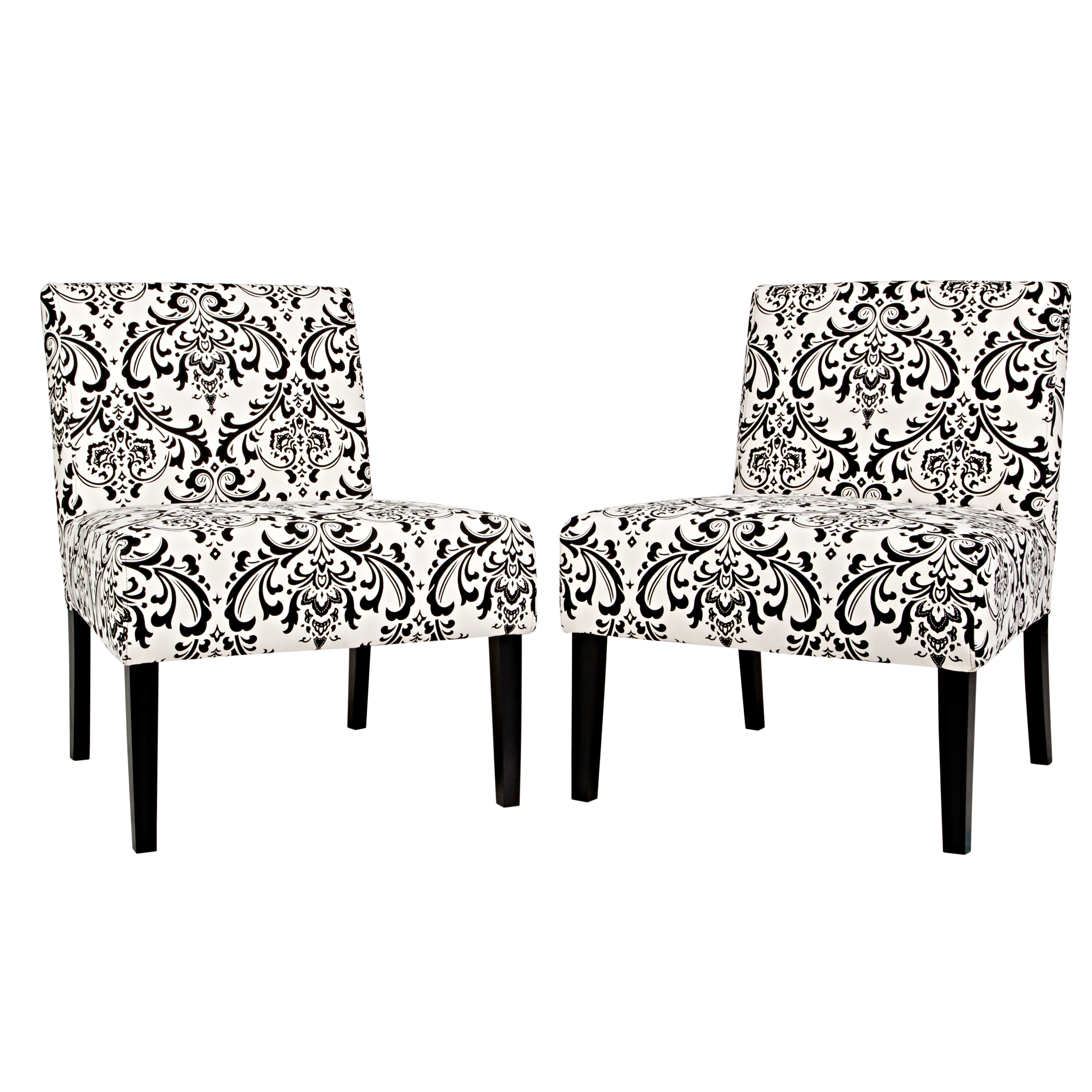 Marvelous Damask Armless Accent Chair