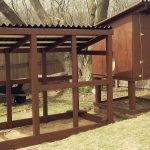 Dark And Big Wooden Chicken Coop