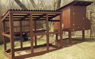 Dark And Big Wooden Chicken Coop