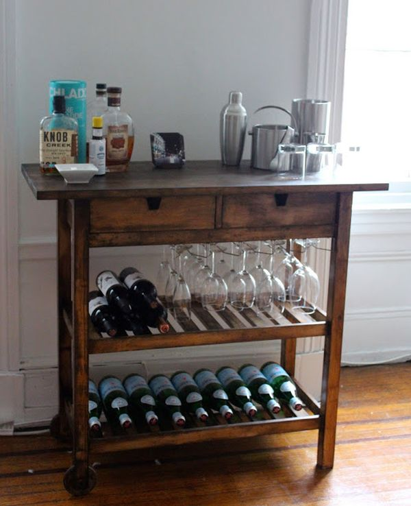 wooden bar cart designs homesfeed
