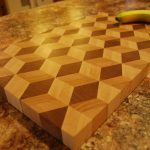 Decorative Big Cutting Board With Banana